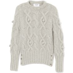 Thom Browne Crewneck Cable Knit Pullover