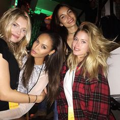 Joan Smalls from Instagrams & Twitpics From New York Fashion Week Spring 2016  The model (with Lily Donaldson, Lily Aldridge and Doutzen Kroes) takes a break from the runway to hang with the girls.