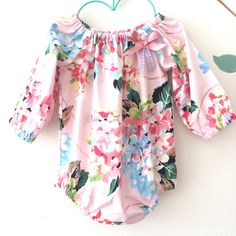 Pink Spring Fling Long Sleeve Floral Baby Girl Romper by BubbyMakesThree on Etsy https://www.etsy.com/listing/235130214/pink-spring-fling-long-sleeve-floral
