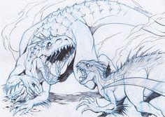 indominus rex vs indoraptor by ChaosArtstudio on DeviantArt Dinosaur Drawing, Dinosaur Art, Raptor Dinosaur, Jurassic World Fallen Kingdom, Jurassic Park World, Prehistoric Creatures, Mythical Creatures, Animal Drawings, Cool Drawings
