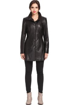 "BGSD Women's ""Jocelyn"" New Zealand Lambskin Leather Car Coat. Check out this great style for $229.99 on Luxury Lane. Click on the image above to get a coupon code for 10% off on your next order."