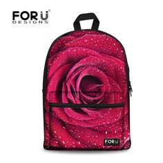 Buy Forudesigns 3D Flower Print Kids School Bags For Girls Teenage Floral  Student Schoolbag Casual Canvas Children Book Bag Mochila  57.18- ICON2 613c081b8d91f