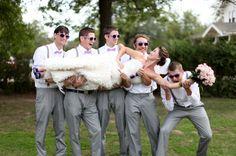 bride with groom's men