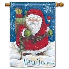Snow Santa Garden Flag ** This is an Amazon Affiliate link. Check this awesome product by going to the link at the image.