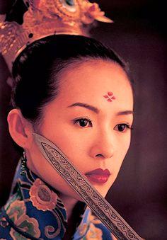 Ziyi Zhang as Xiao Mei in House of Flying Daggers - 2004 Zhang Ziyi, House Of Flying Daggers, Women Lawyer, Celebrity Makeup, Asian Actors, Pretty People, Graffiti, Idol, Beautiful Women
