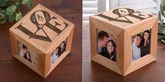 Caja de fotos de madera