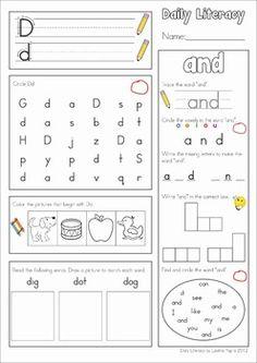 80 best Kinder Morning Work images on Pinterest | Preschool ...