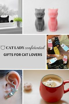 At Cat Lady Confidential we scour the Internet to bring you the most original and creative gifts for cat lovers. Click on the picture above to see our fabulous selection of gifts for cat lovers.