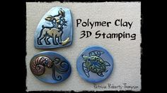 Polymer Clay 3D Stamping - YouTube