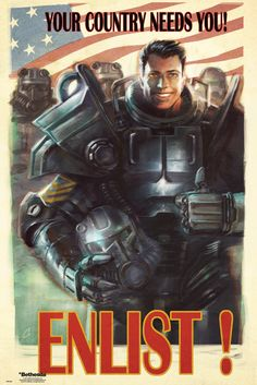 Fallout 4 Enlist - Official Poster