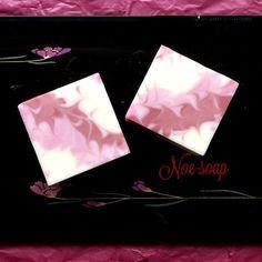 自家製仕切り板〈斜め〉の石けん、カットしました の画像|手作り石けん noe soap