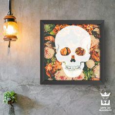 """252 curtidas, 12 comentários - Decoração - Arte ao Quadrado (@arteaoquadrado.oficial) no Instagram: """"Skull and Flowers! . #arteaoquadrado #arte #decor #decoração #decoracao #decoracaodeinteriores…"""""""