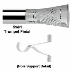 Selectif 28mm Chrome Pole with Swirl Trumpet Finial  Ref: Selectif4600R Selectif 28mm Chrome Pole with Swirl Trumpet Finial  £61.17 (Including VAT at 20%)