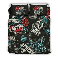 Are you looking for unique bedding sets for adults? We got you covered. All of our bedding sets have unique designs such as gothic bedding sets, skull bedding sets and more. Our bedding sets are super-soft, comfortable, and perfect for any season. Each bedding set comes with a duvet cover and 2 pillow covers. Blue Bedding Sets, Queen Bedding Sets, Gothic Bed, Japanese Warrior, Pillow Inserts, Pillow Covers, Unique Bedding, Gain, Skull