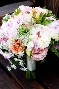 Bella Fiori - peonies, ranunculus, lisianthus, mint and queen anne's lace