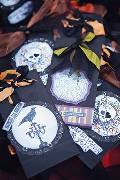 Halloween wedding favor bags -- trick or treat!