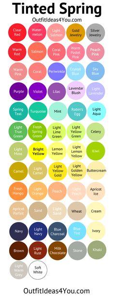 Light Spring Color Palette (Tinted Spring)                                                                                                                                                                                 More