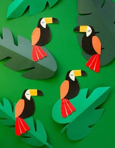 Have a taste of the wild jungle with these delightful party napkins in the shape of a beautiful toucan. Pack of 20 Size: x inches Jungle Theme Classroom, Jungle Theme Parties, Jungle Theme Birthday, Safari Party, Animal Birthday, Safari Theme, Classroom Themes, Jungle Bulletin Boards, 2nd Birthday