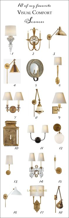 Visual Comfort - sold at many vendors is by far my favorite lighting company. Their selections run the gamut in every way, but there are thousands to choose from and too many to count that I adore!