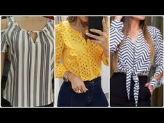 top 84 daily work wear most stylish and stunning floral long sleeves short length blouse top/shirts Short Frocks, Mom And Daughter Matching, Frock Design, Matching Outfits, Work Wear, Clothes For Women, Stylish, Long Sleeve, Sleeves