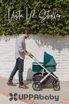 UPPAbaby's latest evolution of the Vista: here is the Vista V2 Stroller with enhanced performance feautures that makes life easier with its gorwing families on the go...this stroller is suitable from birth with the infant SnugSneat to having a toddler seat!