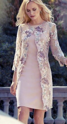Mother of the Bride long lace floral jacket cover up jacket for Spring Summer We. - Mother of the Bride long lace floral jacket cover up jacket for Spring Summer We… – Kleid – Source by bridekod - Mother Of The Bride Jackets, Mother Of The Bride Dresses Long, Mother Of Bride Outfits, Mothers Dresses, Mob Dresses, Fashion Dresses, Dresses With Sleeves, Formal Dresses, Fashion Fashion