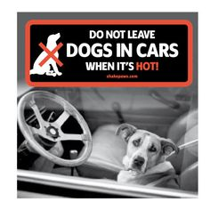 Do Not Leave Dogs in Cars When it's Hot car window sticker by WeAreShakePaws on Etsy