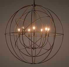 Perfect for the Library, sigh Restoration Hardware Foucault's Twin-Orb Chandelier