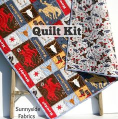 Western Quilt Kit, Learning the Ropes Cowboy Quilting Project