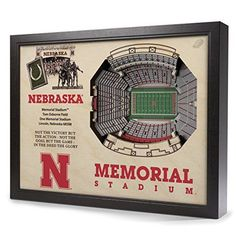 NCAA Nebraska Cornhuskers Memorial Stadium Wall Art >>> To view further for this item, visit the image link. (This is an affiliate link)
