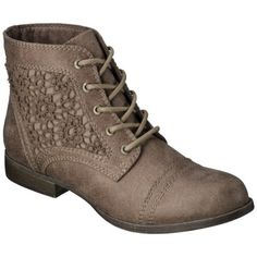 Women's Mossimo Supply Co. Kessi Crochet Boot - Taupe , 29 bucks at Target