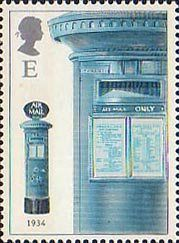 150th Anniversary of the First Pillar Box E Stamp (2002) Air Mail Box, 1934