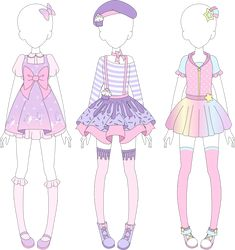 MRA: Fairy Kei Designs 1 by VanillaChama.deviantart.com on @DeviantArt