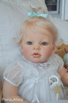 Sweet Toddler   ARIANNA   by Reva Schick  OOAK   Baby Girl Doll by Crystal of Paris Alley.  Now on Ebay