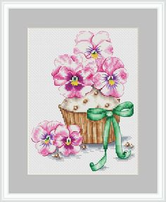 VK is the largest European social network with more than 100 million active users. Cupcake Cross Stitch, Cross Stitch Flowers, Cross Stitch Alphabet, Cross Stitch Kits, Modern Cross Stitch Patterns, Cross Stitch Designs, Cross Stitching, Cross Stitch Embroidery, Christmas Embroidery Patterns