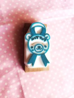 Eraser Hanko bear ribbon - eraser stamp