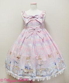 Angelic Pretty- Sugar Dream Dome high waist jsk (2014) (Pink)