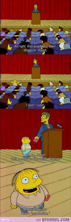 Why We Love Ralph Of The Simpsons…
