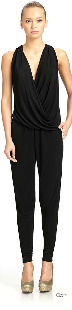 Stella McCartney ● Black Drape Jumpsuit