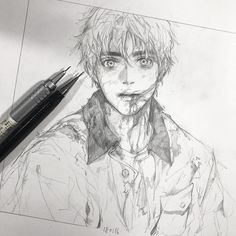 ♂️ I used to love zombies when I was in high school (I guess) haha I still like them tho! Boy Drawing, Drawing Skills, Manga Drawing, Manga Art, Drawing Sketches, Art Drawings, Anime Art, Inspiration Art, Art Inspo