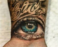 Don't have credit for who did it but sick eye I want something like it on my hand someday...