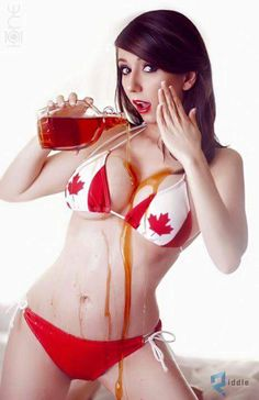 Model: Riki 'Riddle' LeCotey (aka Riddle's Messy Wardrobe, aka / Photo: Lexa One Photographie Canadian Red Cross, Canadian Maple, Divine Goddess, Happy Canada Day, Sexy Geek, New Print, Riddles, Cosplay Girls, Anime Cosplay