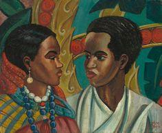 mequetrefismos-artistas-negras_lois mailou jones_the African American Artist, African Art, American Artists, Harlem Renaissance Artists, Renaissance Kunst, Black Love Art, Art Of Love, Montmartre Paris, African Paintings