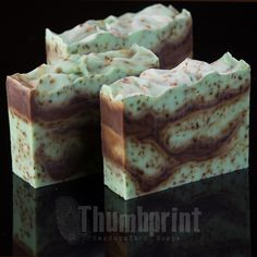Chocolate Chip Mint Soap with shea butter.