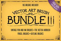 Vector Art Brush Bundle 3 by The Artifex Forge on @creativemarket