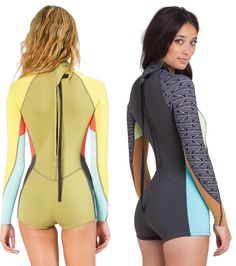 Shop Wetsuit Wearhouse for these awesome Billabong Women's 2mm L/S Springsuits!