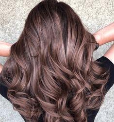Chocolate Mauve Hair, Pelo Chocolate, Mocha Hair, Rose Gold Hair Brunette, The Brunette, Lilac Hair, Brunette Color, Brown Hair Balayage, Hair Highlights