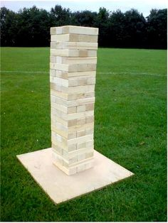 giant jenga game for family backyard fun Simply the best better than all the rest www.tumblingtowers.com