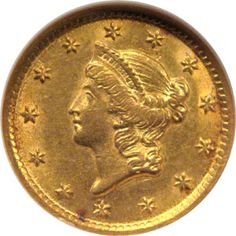 1853 one dollar gold