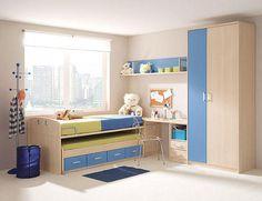DORMITORIO MODULAR - Dormir, estudiar y jugar: Claves para decorar el cuarto de los más pequeños